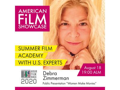 """Debra Zimmerman, Women Make Filmlarning ijrochi direktori bilan """"Ayol ijodkor  filmlarini yaratish tarixi va ahamiyati"""" mavzusida vebinar"""