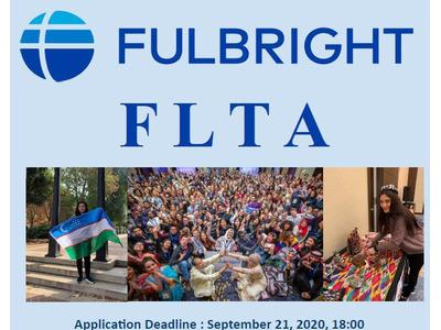 """Xorijiy til oʻqituvchilari uchun dastur – """"Fulbright Foreign Language Teaching Assistant (FLTA) 2021"""""""