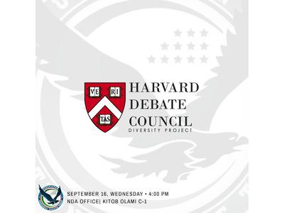 National Debate Association (NDA) dan Garvard Universiteti debatlari