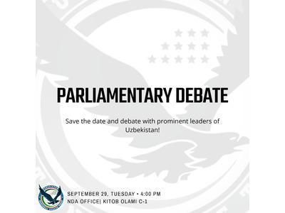 National Debate Association (NDA) dan Parlament debatlari
