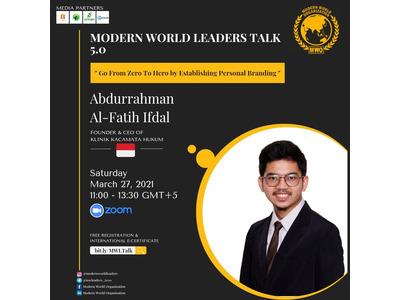 Shaxsiy brend qurish haqida Indoneziyalik spiker Abdurrahman Al-Fatih Ifdal bilan onlayn uchrashuv