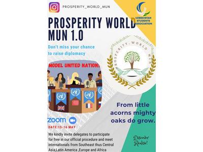 BMT modeli asosidagi Prosperity World MUN xalqaro onlayn konferensiyasi