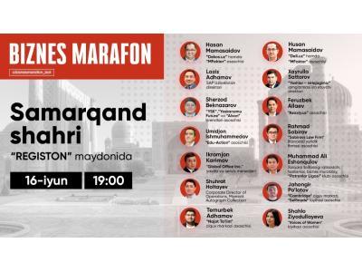 """""""Biznes Marafon"""" Samarqandda"""