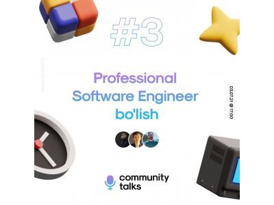 """""""Professional Software Engineer boʻlish mavzusida"""" onlayn suhbat"""
