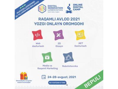 Online Digital Camp - Raqamli Avlod onlayn oromgohi!