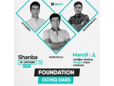 Integer academy'da Foundation ochiq dars