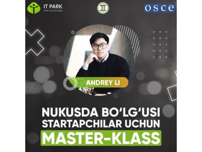 Nukusda bo'lg'usi startupchilar uchun master-klass
